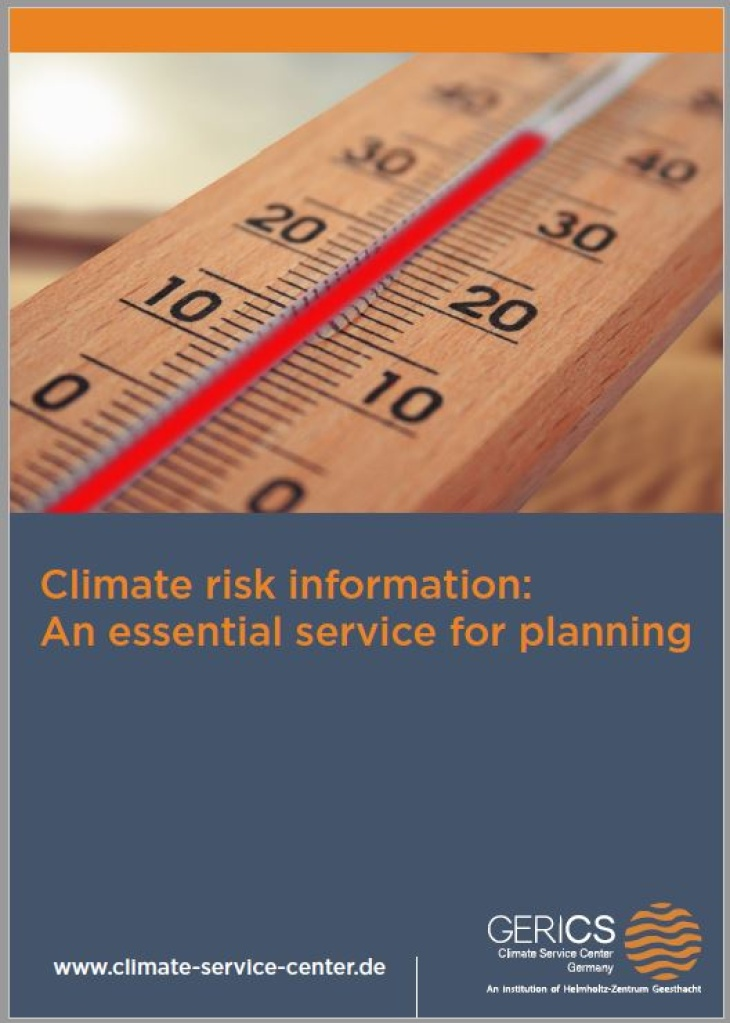 Cover eBook climate risk information