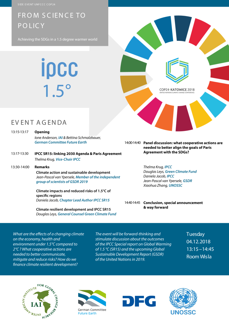 COP24 Flyer Science to policy
