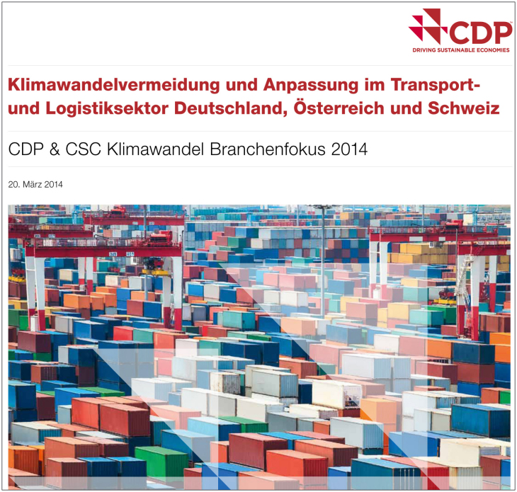 CDP CSC Transport- und Logistiksektorstudie Cover